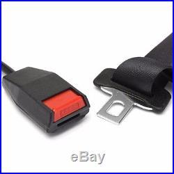 3 Point Adjustable Car Seat Belt Bolt Extension Belt Buckle Strap Safety Buckle