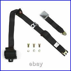 3 Point Retractable Airplane Buckle Black Seat Belt (1 Belt)