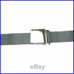 3 Point Retractable Airplane Buckle Charcoal Seat Belt (1 Belt) rv parts bbc