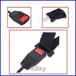 3 Point Retractable Car Seat Lap Belt Buckle Extender Strap Safety Buckle Black