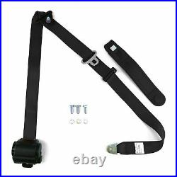 3pt Black Retractable Seat Belt Standard Buckle Each