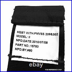 3pt Black Retractable Seat Belt Standard Buckle Each RSBK rat