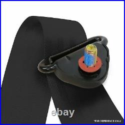 3pt Black Retractable Seat Belt With Mount Brackets Standard Buckle SafTboy v8