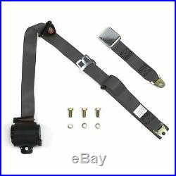 3pt Retractable Airplane Buckle Charcoal Seat Belt rv parts bbc aircraft v8 hot