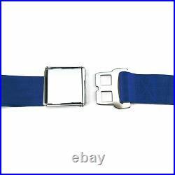 3pt Retractable Dark Blue Safety Seat Belt Airplane Lift Buckle Interior Car V8