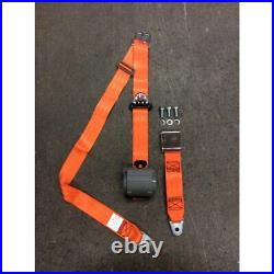 3pt Retractable Orange Safety Seat Belt Airplane Lift Buckle Interior Car Each