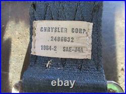 64 65 Fury Savoy Satellite Belvedere Rear Seat Belts Buckles Bolts Oem Original