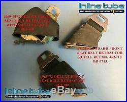 64-68 Standard GM All Models Rear 4 Panel Web 3 Lap Seat Belt Sets NO BUCKLE