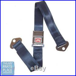 65 GM A / B & X Body Cars Deluxe Rear Chrome Buckle Dark Blue Webbing Seat Belt
