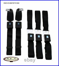 68-72 Chevelle Oe Style Front & Rear Seat Belt Kit Gm Buckle Made In USA