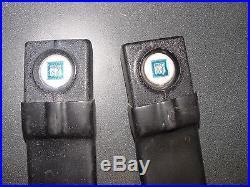 69 Corvette Original Seat Belt Receives Black WithRound Blue Button LH & RH Pair