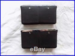 70-72 Chevelle 68-69 Impala Orig GM Console Seat Belt Buckle Holder Pockets PAIR