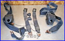 73-78 Toyota Truck Hilux PICKUP Seat Belt Buckle RETRACTOR SET BLACK/BLUE