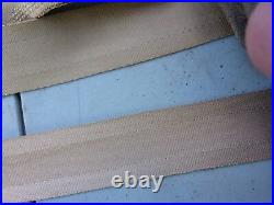 73-79 FORD TRUCK SEAT BELTS COMPLETE OEM BRONZE GOLD SET With RETRACTORS BUCKLES