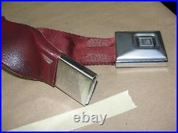 75 1975 Cadillac Deville RIGHT FRONT DOUBLE SEAT BELT RECEIVERS BUCKLES RED GM