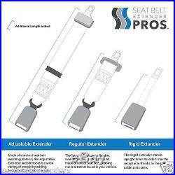 7 Long Seat Belt Extender 1 Buckle Tongue Beige E4 Safety Certified
