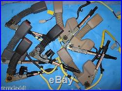 7 OEM Pieces HONDA SEAT BELT BUCKLE PRE TENSIONER LH Driver Black Gray Tan USED