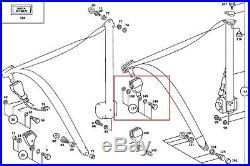 81-85 Mercedes R107 380SL 380SLC Front Left Seat Belt Buckle Black OEM Driver