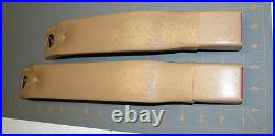 82-92 Camaro Firebird Light Doeskin Tan Front Seat Belt Buckles NEW GM PAIR