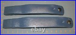 82-92 Camaro Firebird Sapphire Blue Front Seat Belt Buckles NEW GM PAIR 407/406