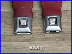 87-93 Mustang Convertible Red Front Seat Belt Buckle Oem 1993 White