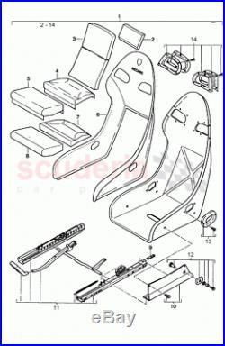 911 996 GT2 GT3 fastening seat belt buckle Recaro bucket 99652192790 Porsche 993