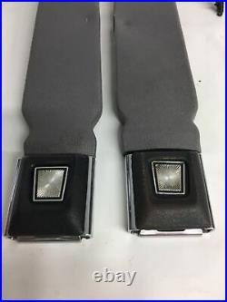 92-96 BRONCO F-150 250 350 SEAT BELT BUCKLE RECEIVER LATCH SET BUCKET SEATS Gray