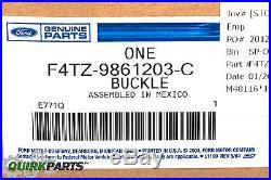 92-97 Ford F150 F250 F350 Bronco Front Driver Seat Belt Buckle OEM F4TZ9861203C