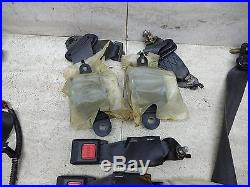 94-01 Acura Integra Front & Rear Black Seat Belt Set 2 Door Seatbelts