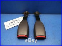 95-97 Subaru Impreza GC8 OEM front L & R seat belt buckle receivers Gray #11