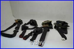 98-02 Chevy Camaro Seat Belt Set Front And Rear Buckle Retractors Black