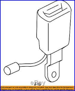 AUDI OEM 17-18 Q7 Second Row Back Rear Seat Belt-Buckle End Right 4M0857740LMNB