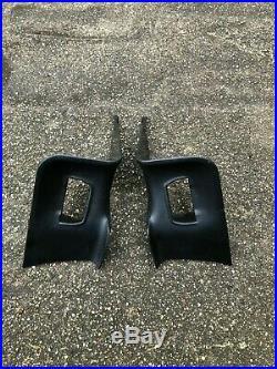 BMW E34 Rear Seat Belt Buckle Sedan Black Cover Receiver Pair Interior OEM M5