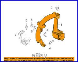 BMW OEM 08-13 328i Rear Seat Belt-Buckle Retractor Assembly Left 72117158673