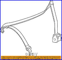 BMW OEM 98-02 Z3 Front Seat Belt Buckle-Retractor Assy Left 72118407991