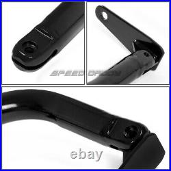 Black 49stainless Steel Chassis Harness Bar+green 4-pt Strap Buckle Seat Belt