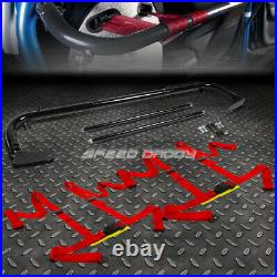 Black 49stainless Steel Chassis Harness Bar+red 4-pt Strap Buckle Seat Belt