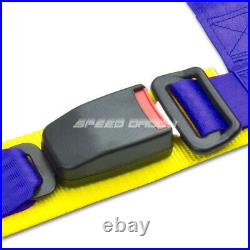 Blue 49stainless Steel Chassis Harness Bar+blue 4-pt Strap Buckle Seat Belt