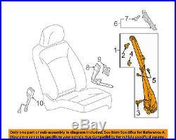 Buick GM OEM 2010 LaCrosse Front Seat-Belt & Buckle Retractor Right 19256758
