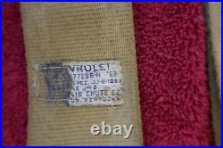 C2 1964-65 Corvette Used Orig Chrome Lift Buckle Saddle Tan Seat Belts Ic8000