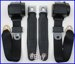 C3 Corvette 1968-74 3 Point Seat Belt Convert Kit Metal Buckle/Starburst Button