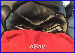 CHROME INDUSTRIES Classic Black/Red Messenger Bag Seat Belt Buckle V. G P/O Cond