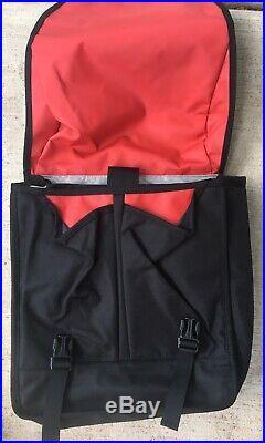 CHROME INDUSTRIES Classic Black/Red Messenger Laptop Bag Seat Belt Buckle LNC
