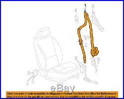 Chevrolet GM OEM 11-12 Malibu Front Seat-Belt & Buckle Retractor Left 19256923