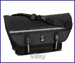 Chrome CITIZEN NIGHT SERIES All Black Seat-belt Buckle Laptop Messenger Bag