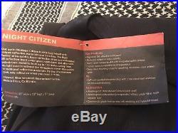 Chrome CITIZEN NIGHT SERIES All Black Seat-belt Buckle Messenger Bag MSRP $179