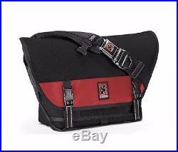 Chrome MINI METRO Black Red Chrome Seat-belt Buckle Weatherproof Messenger Bag