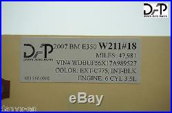 DAP W211 MERCEDES 07-09 E CLASS FRONT RIGHT PASSENGER SIDE SEAT BELT BUCKLE #18