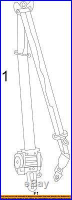 Dodge CHRYSLER OEM Charger Front Seat Belt Buckle-Retractor Assy Left 1HZ053T5AC