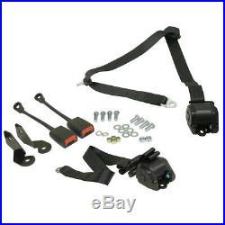 Empi 3851 Retractable 3 Point Seat Belt / Lap Belt, Push Button Buckle, Pair